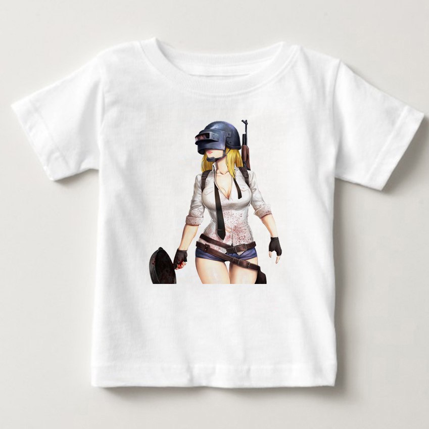 pubg Playerunknowns Battlegrounds Video Game Gaming T-Shirts girl Tees Tops Casual Apparel Fashion T Shirts short sleeve MJ