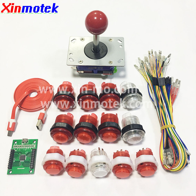 LED Arcade Game DIY Accessories Kit for PC PS3 and Raspberry Pi, ZIPPYY joystick and LED Illuminated push buttons