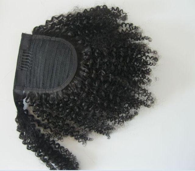 Najlepsza Jakość 7a Krótki Kucyk Klip W Przedłużanie Włosów Afro