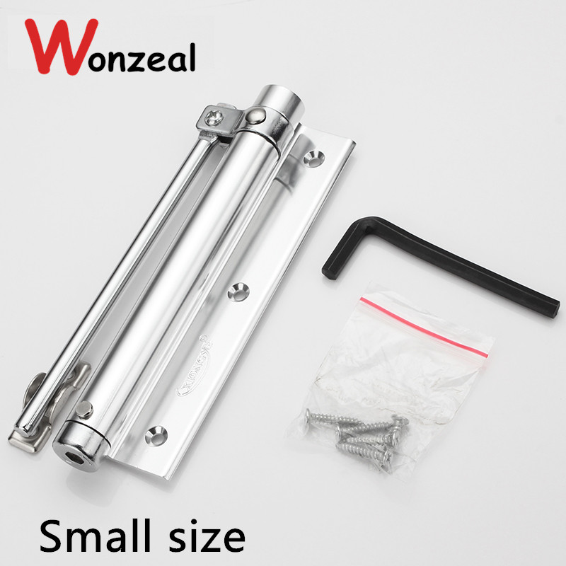 Small option Adjustable Door Closer Casting Aluminum Automatic Mini Door Spring Closer 1pc automatic mounted spring door closer stainless steel adjustable surface door closer 160x96x20mm page 6