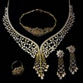 Professional Jewelry Sets Supplier! New Party Jewelry! Rhodium  Plate With CZ Stones 4pcs Necklace Sets