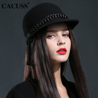 5128ebfdec9 Cacuss brand hats winter hats female fedoras caps beret caps women riding  caps high quality wool