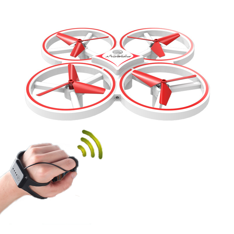 DWI Obstacle Avoidance Aircraft Mini Drone Professional 360 Flip Interactive Induction Quadcopter Watch Control UAV Drone-in RC Airplanes from Toys & Hobbies