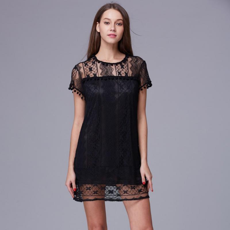 White lace sleeveless dress Plus Size 1