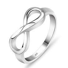 Symbol бесконечной друг любви бесконечность оптовые стерлингового серебра лучший кольца #