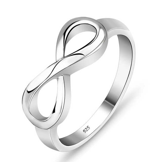 """925 Sterling Silver Infinity Ring """"Endless Love"""""""
