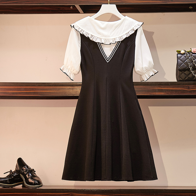 L-4XL Plus Size Women Cute Dress Summer 2019 Pleated Ruffle ...