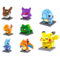 8pcs/set Kawaii Building Blocks Figures Toys Pikachu Charmander Bulbasaur Squirtle Mewtwochild Child Gift Building Blocks Gift