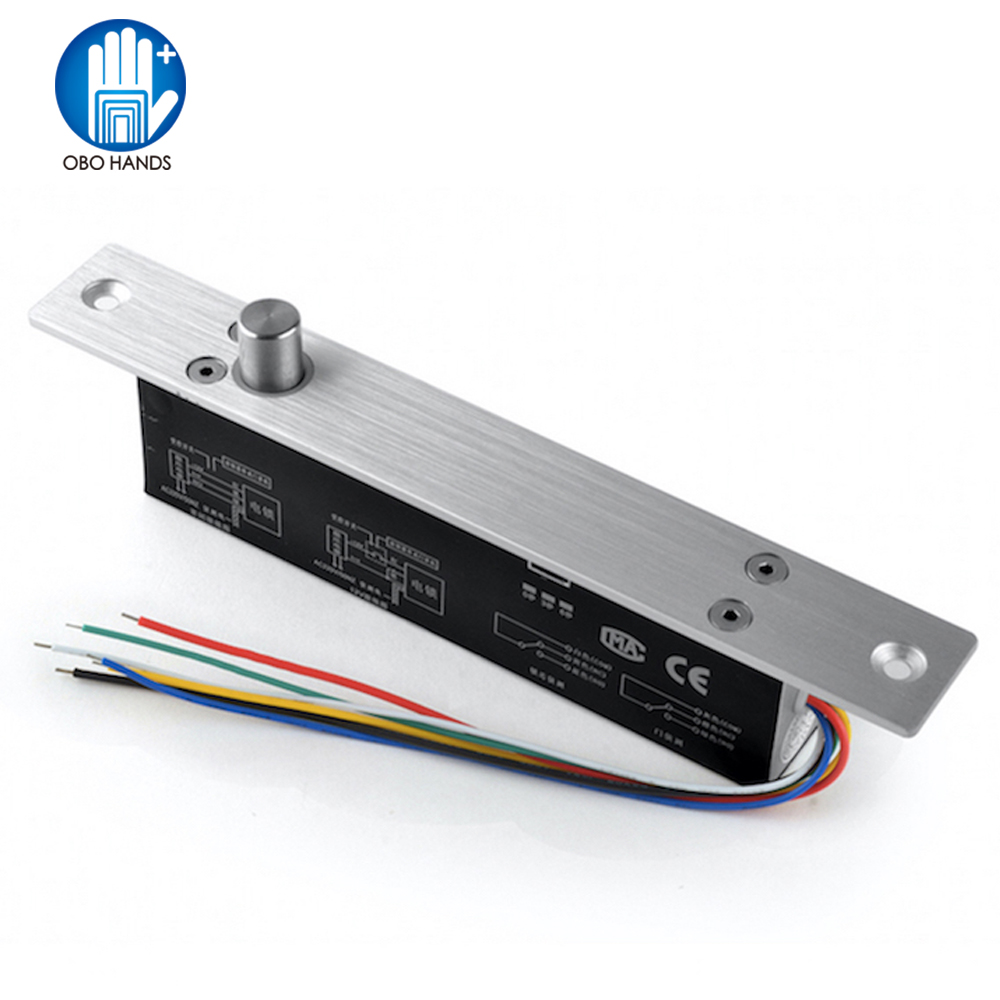 5/6 Wires Electric Bolt Mortise Door Lock Fail Safe/Secure With Feedback For Wooden/glass/Security/office Door Lock System NC/NO