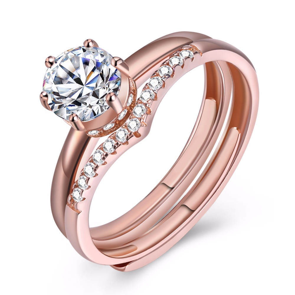 GNIMEGIL Classic Jewelry 925 Sterling Silver Rings Gold/Silver Color ...