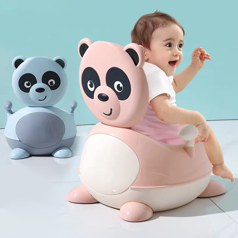 Panda Baby Potty Toilet Bowl Cute Cartoon Training Pan Toilet Seat Children Bedpan Portable Urinal Comfortable Backrest Pot