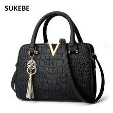 2017 New Women Handbags Famous Brands Women Messenger Bag Alligator PU Leather Ladies Shoulder Bag Crossbody