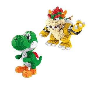 Image 1 - ZMS Magic Blocks Big size Yoshi Mini Blocks Mario Micro blocks Anime DIY Building Toys Juguetes Auction Figures Kids Gifts 3492