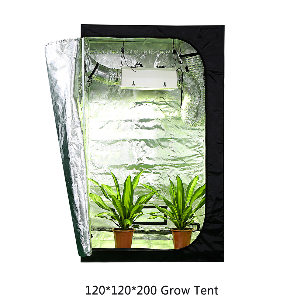 100 100 200CM 600D grow tent for indoor hydroponics greenhouse plant lighting Tents 80 100 120 150 Growing tent in LED Grow Lights from Lights Lighting