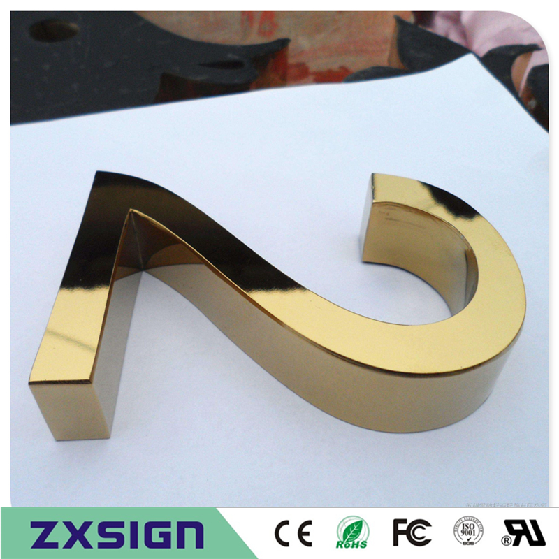 Factory Outlet Outdoor stainless steel house digitals, outside use home numbers/doorplate