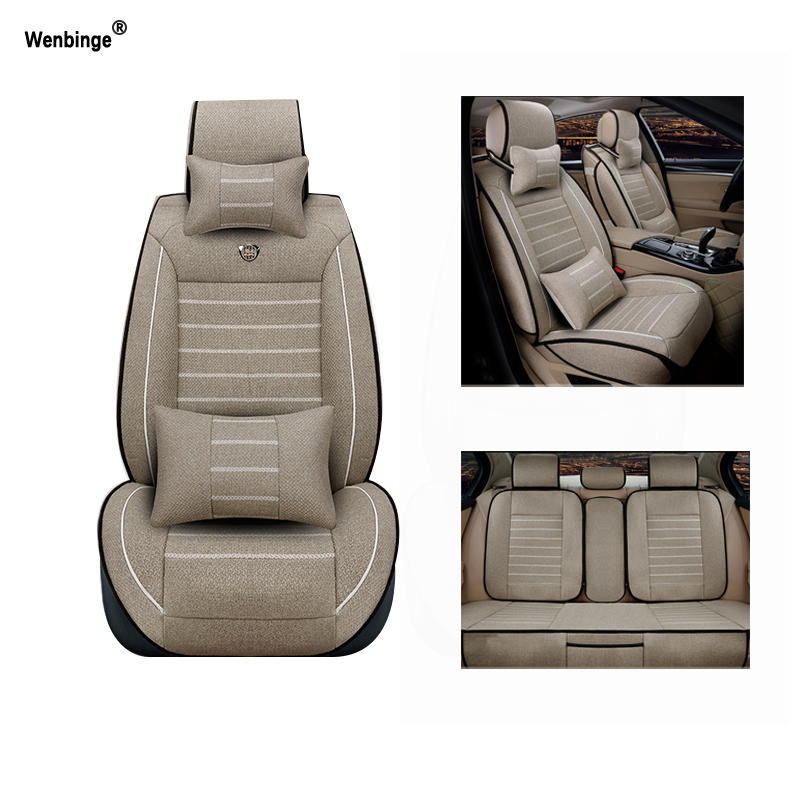 Breathable car seat covers For Dacia Sandero Duster Logan car accessories car-styling car cushions Black/Beige/Red 3D linen universal car seat cover for dacia sandero duster logan car seat cushion interior accessories automobiles seat covers