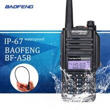 Baofeng BF-A58 Waterproof Walkie Talkie IP67 5W 128CH Dual Band VHF UHF Radio VOX FM