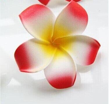 6 см Искусственный Плюмерия acutifolia PE Франгипани цветы, Рождественские Свадебные украшения орнамент, реквизит для фотографий, 200 шт - Цвет: Red