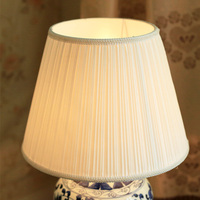 White color E27 fabric lampshade lamp cover for ceramic table lamps