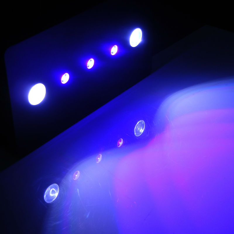 Marine 169W LED Aquarium Lights Dimmable full blue COB with lens For Croal Reef Fish Tank aquarium lamp lighting High quality цена