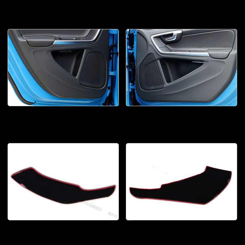 Ipoboo 4pcs Fabric Door Protection Mats Anti-kick Decorative Pads For Volvo S60 2009-2015 / V60 2011-2015 ipoboo 4pcs fabric door protection mats anti kick decorative pads for hyundai elantra 2012 2015