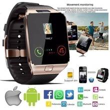 Reloj inteligente Bluetooth, reloj inteligente DZ09 Android, reloj de llamada 2G GSM SIM tarjeta TF de cámara para iPhone Samsung Android PK GT08 A1