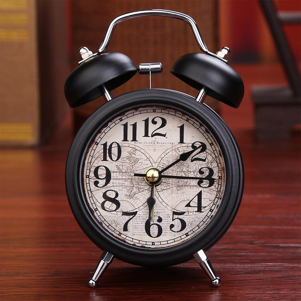 Alarm Clock Home Decor Ticking Retro Vintage Twin Bell ...