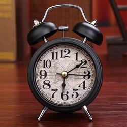 Alarm Clock Home Decor Ticking Retro Vintage Twin Bell Desk Bedside Alarm Clock 4 Colors Antique Clock Decoration Accessories