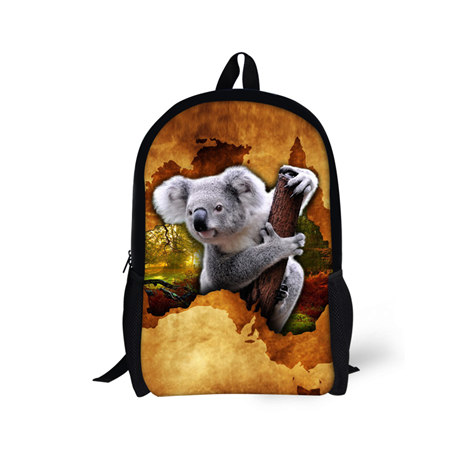 Zoo Koala Design Child School Bags for Boys Girls Animals Backpack Children Bookbag Kids Schoolbag for Teenagers Student Mochila