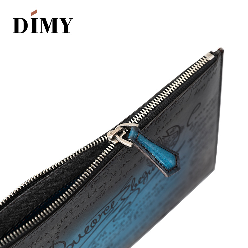 Dimy Business A4 Envelope Bag Italian Calfskin Leather Men 39 s Clutch Bags Genuine Leather Handbags Fashion Day Clutches For Men
