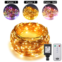 20M 200LEDs Dual-Color Copper Wire LED String Lights Starry For wedding New Year Fairy Lights+UL CE Certified (US/EU/UK)