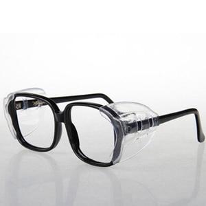Image 3 - 2Pairs Beschermende Covers Voor Bril Sideshields Voor Bijziende Veiligheid Flap Side Beschermende Vel Anti Zand Splash