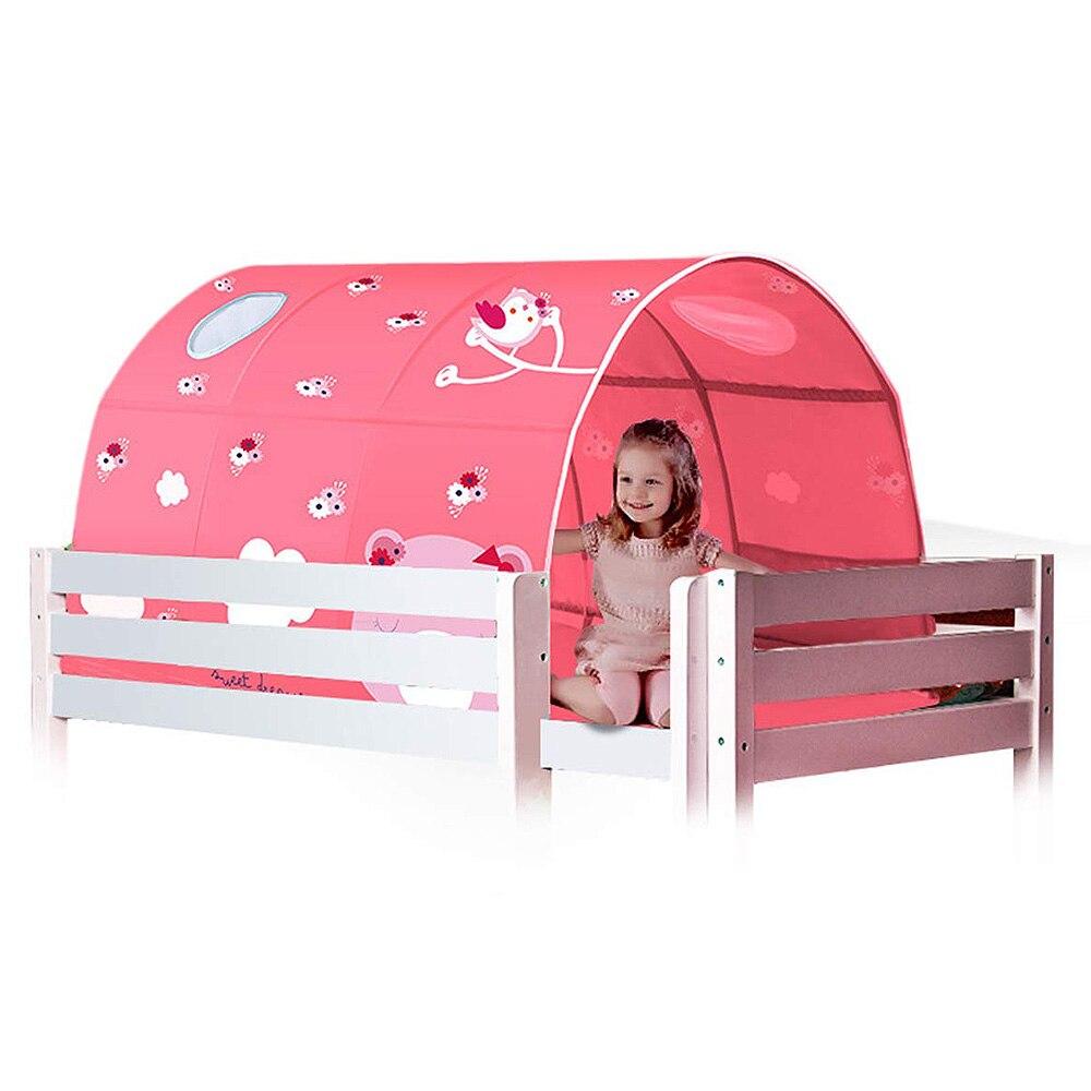 2 couleur bébé jouer jouet tente pour enfants chambre grand espace enfants Wigwam Portable intérieur extérieur toile tipi tente jouet bébé tente lit - 4