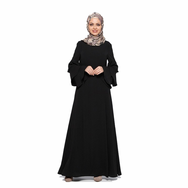 270cd587563e1 Fashion Muslim dress long sleeve women robe loose skirt Arabic dubai abaya  dress Ready stock Turkish islamic clothing