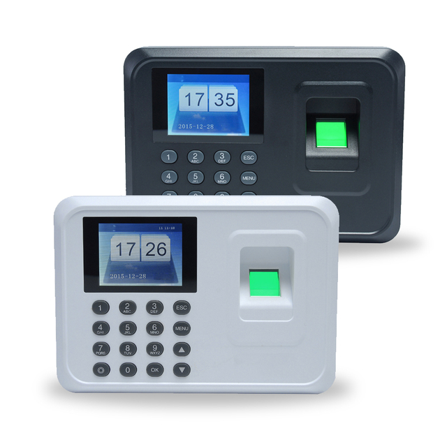 Intelligent Biometric Fingerprint Password Attendance Machine Employee  Checking-in Recorder 2 4