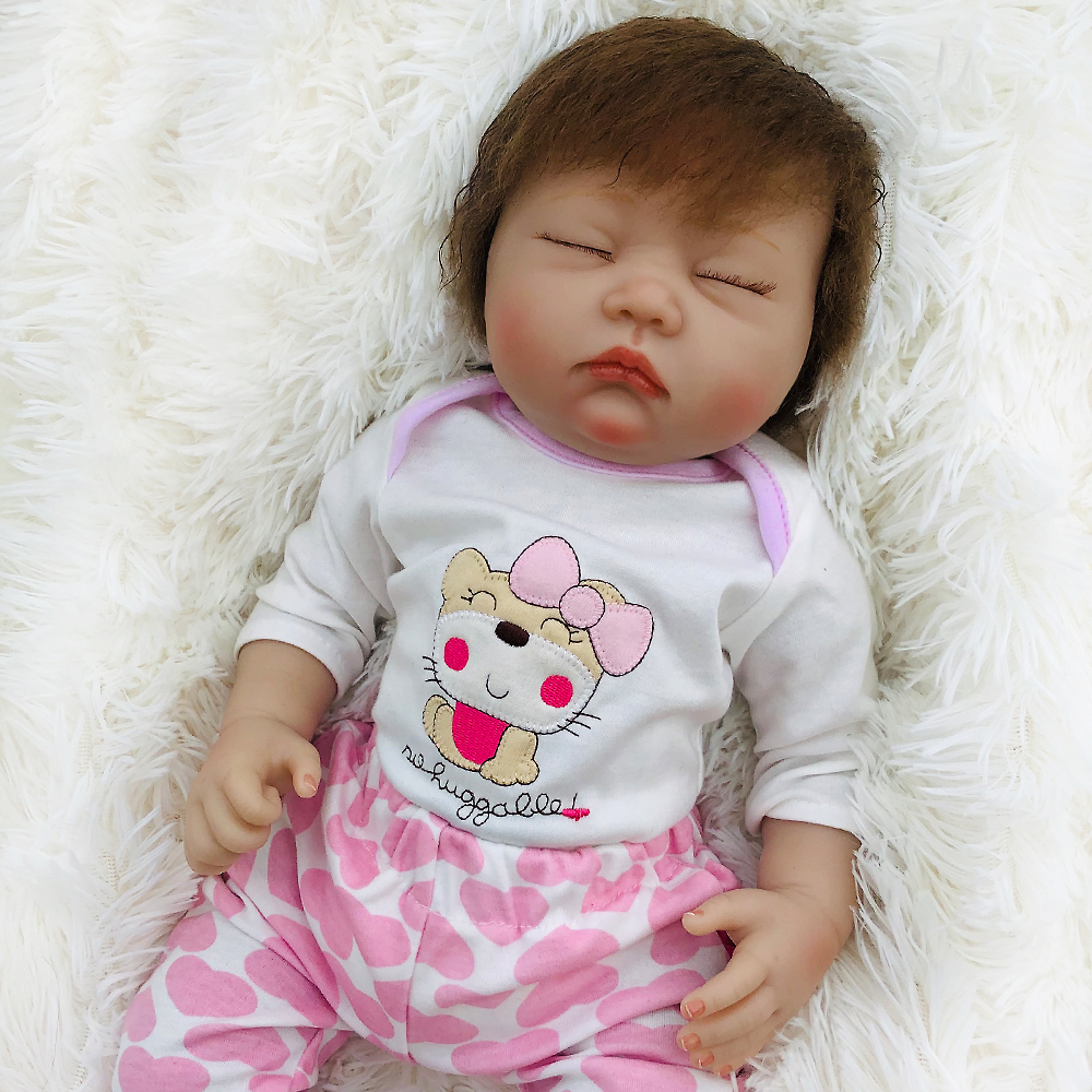 "Otarddolls bebes reborn dolls 50 cm 20 ""reborn baby doll 수제 슬리핑 실리콘 비닐 실물 유아 bonecas girl kid menina-에서인형부터 완구 & 취미 의  그룹 1"