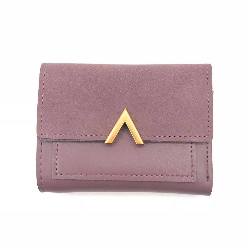 Matte Leather Small Women Wallet Luxury Brand Famous Mini Womens Wallets And Purses Short Female Coin Purse Credit Card Holder 5
