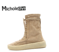 Winter Retro Boots Thick Bottom Coconut Muffin Cylinder Men Casual Platform Single Season Shoes Kanye West