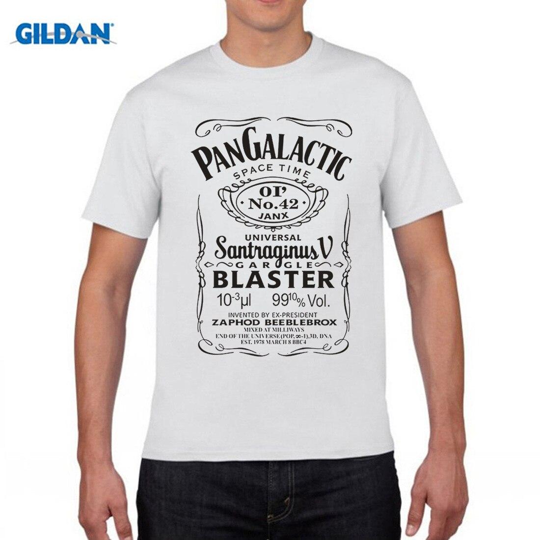 GILDAN Pan Galactic Gargle Blaster T-Shirt 100% Cotton Douglas Adams 2017 Brand T Shirt Men Fashion Cotton Men Short Sleeve