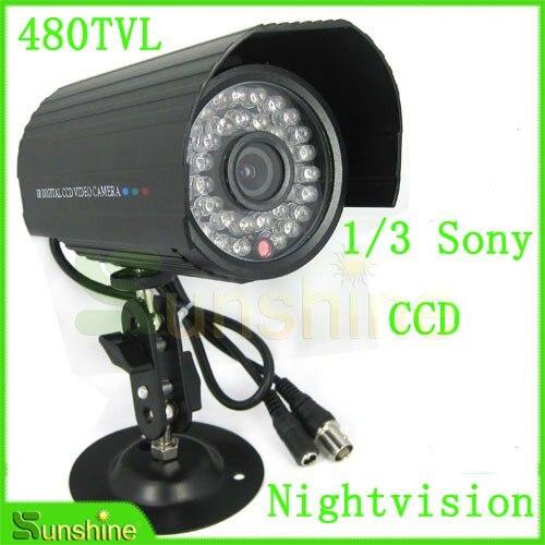 "24 LEDs CCTV Sony 1//3/"" CCD IR Color Camera Night Vision 520 TVL High Quality"