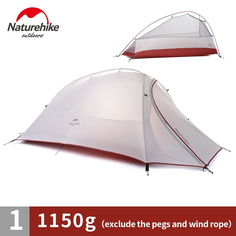 NatureHike Outdoor 1 Man Single Person Ultralight Camping Tent Cloud Up 1 20D nylon silicone nh cloud outdoor single person camping tent anti rain 4seasons ultraportability 20d nylon silicone cated waterproof 8000mm