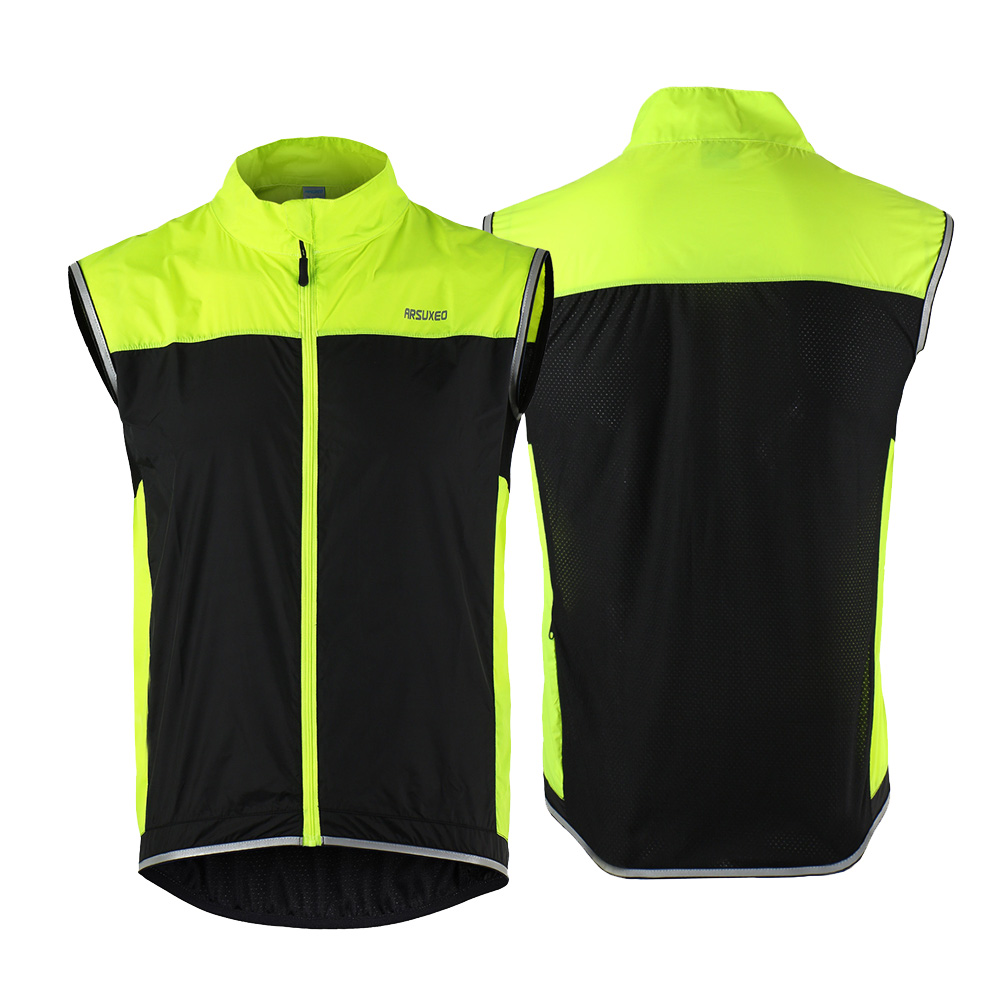 Men Cycling Jacket Jersey Vest Wind Coat Windbreaker Jacket Outdoor Sportswear