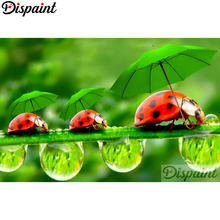 Dispaint Full Square/Round Drill 5D DIY Diamond Painting Animal ladybug Embroidery Cross Stitch 3D Home Decor A10505