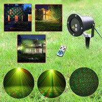リモートコントロールクリスマスパターン屋外防水レーザープロジェクター庭ホリデークリスマスツリー赤緑風景ライト