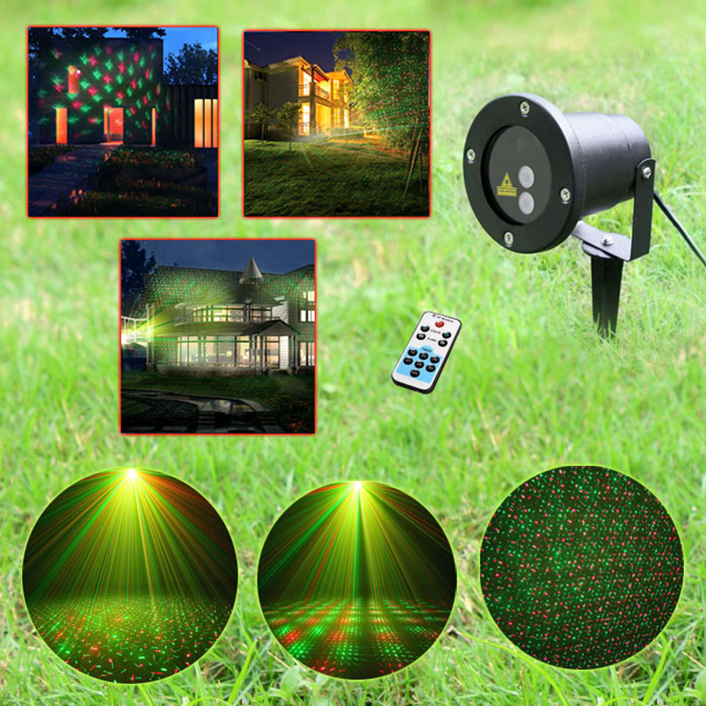 цены на Remote Control Xmas Patterns Outdoor Waterproof Laser Projector Garden Holiday Christmas Tree Red Green Landscape Light в интернет-магазинах