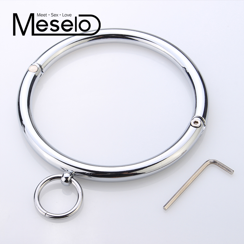 Stainless Metal Sexy Collar Sex toys Adult Games Adult Product Erotic Positioning Collar Restraint Bondage Erotic Toy for Couple smpade latest special design over the door restraint jam cuffs body bondage kinky couple sexy fun play adult cosplay