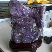 Исцеление Кристалл 5,1 кг Purply аметистовый геодезический Кристалл образец украшения дома 2019 природных минералов Рождество интимные аксессуа