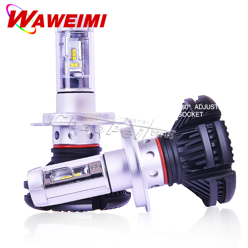 LED Headlight Lamp Bulb H4 12V 6000LM (2xPieces)