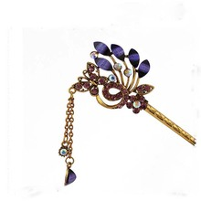 1Pc Handmade Alloy  Flower Simple Vintage Women Hair stick jewelry Chinese Style Hairpin Gift Jewelry Accessories