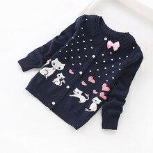 Cárdigans de algodón para niña, suéteres de algodón encantadores para niña de 3 a 16 años, Rebeca de algodón 2016